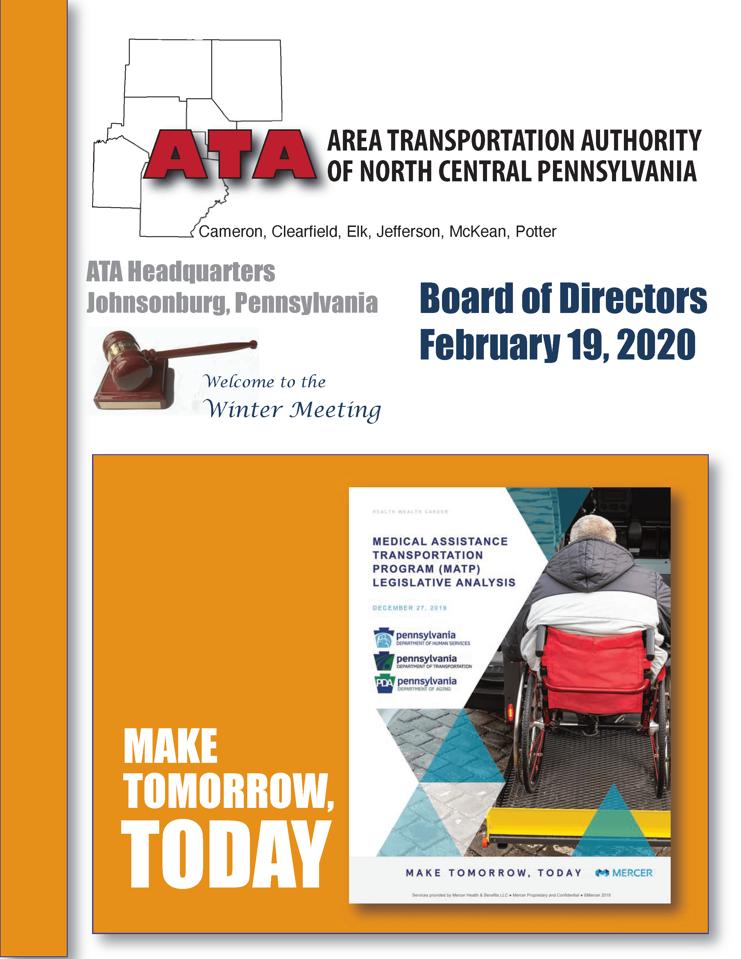 ATA Feb Board Meeting Cover