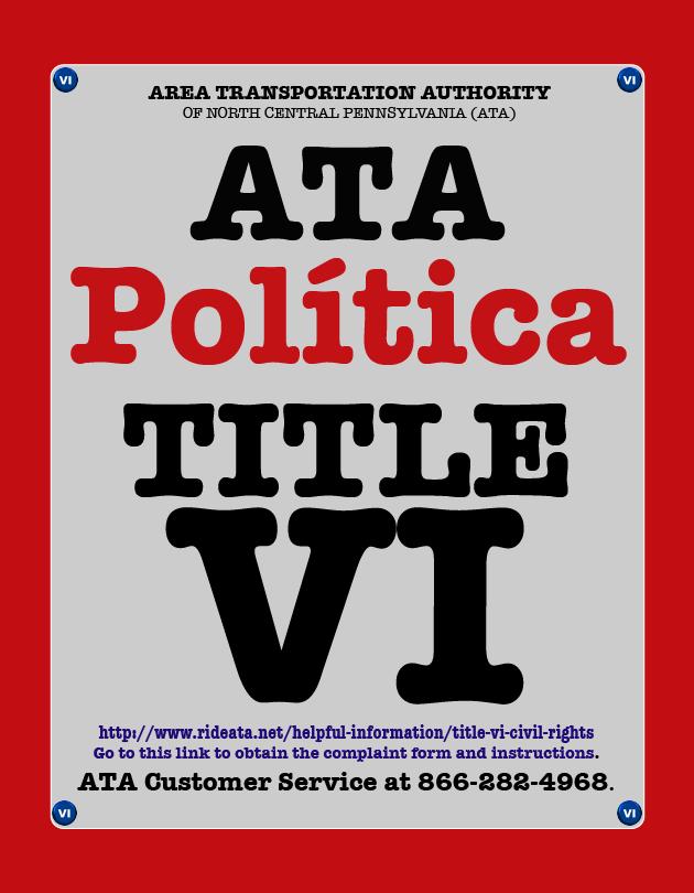 ATA TITLE VI Política ICON
