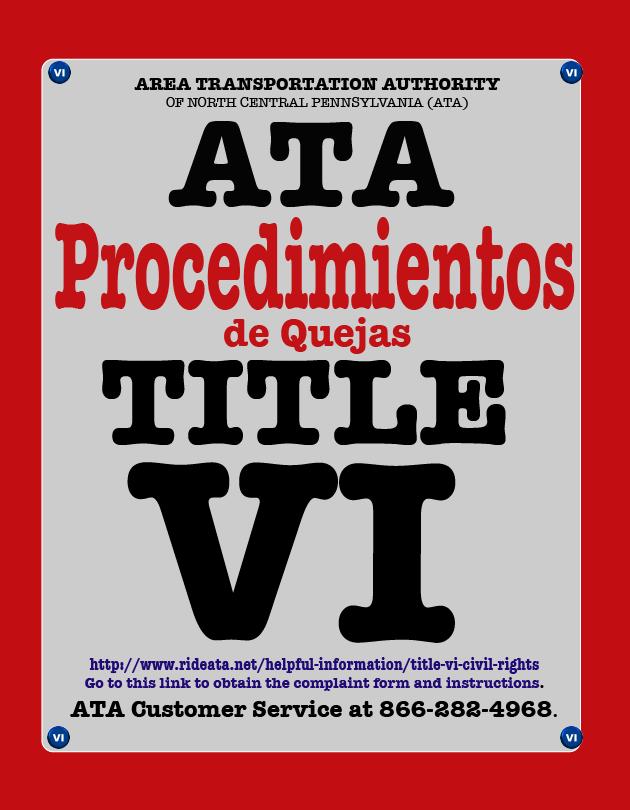 ATA Title VI Procedimientos ICON