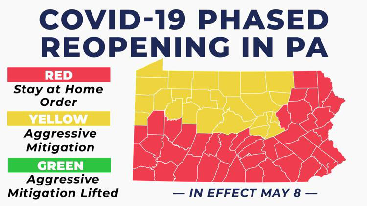 PA Covid Open MAP