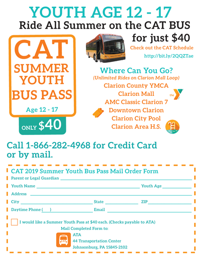CAT BUS SUMMER YOUTH FARE 2019 - AD