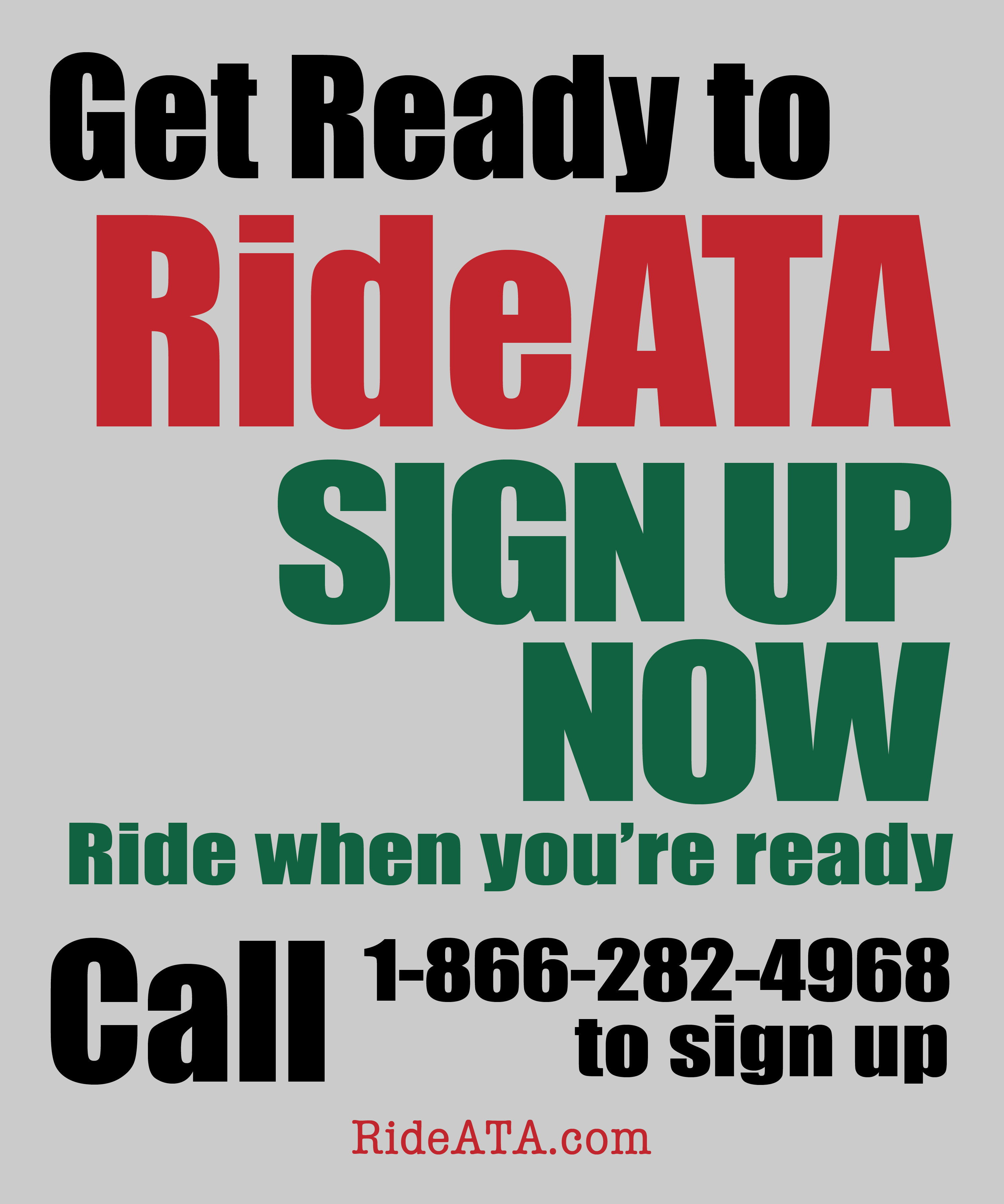 Get Ready for RideATA