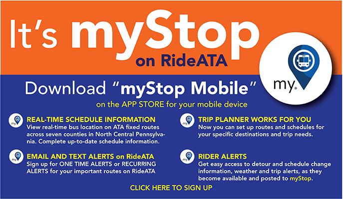 myStop on RideATA Features